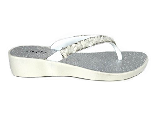 Femme SKO'S pour White Sandales 28 XBXZqvxw