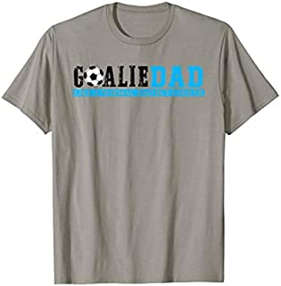 Mens Goalie Dad Like A Normal Dad But Cooler Soccer Birthday Gift T-shirt | Size S - 5XL