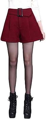 42372d9b1c0 Yonglan Mujer Pantalones Cortos De Pierna Ancha Cintura Alta Short  Pantalones Tallas Grandes Rojo M. Cargando imágenes.