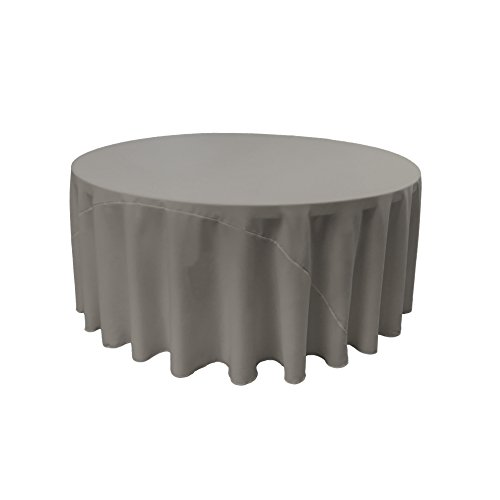 LA Linen Polyester Poplin Round Tablecloth, 120-Inch, Dark Gray Dark Gray Cloth