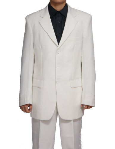 New Men's 3 Button Single Breasted Cream Dress Suit (Fancy Dress Outlet)