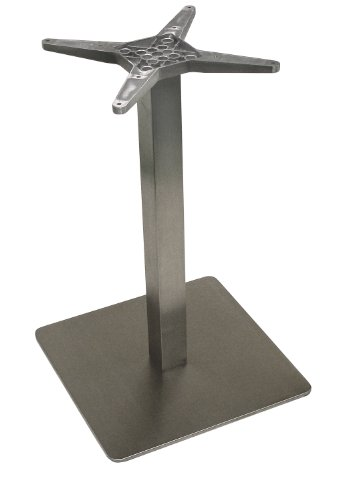 ATC Futura Square Stainless Steel Low Profile Table Base, 20