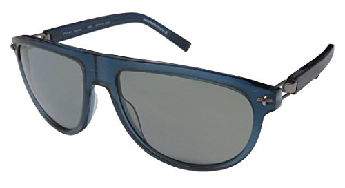 Oga By Morel 7868o For Men Designer Full-Rim Shape Polarized Lenses Spring Hinges Sunglasses/Sun Glasses (58-16-130, Transparent Dark Blue/Gray)