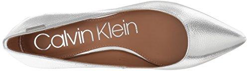Calvin Klein Womens Gabrianna Pump, Argento, 6,5 Medio Noi