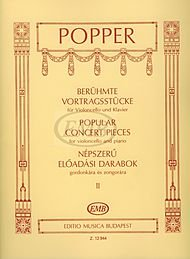 Editio Musica Budapest Popular Concert Pieces - Volume 2 (Cello and Piano) EMB Series Composed by David Popper ()