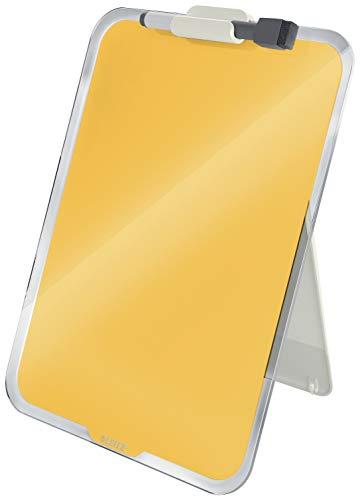 Leitz - Portapapeles de cristal, color amarillo cálido