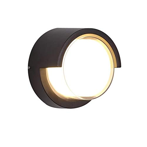 Outdoor Wall Sconce 12W LED Lamps Waterproof Indoor Modern Low Profile Lighting Fixtures 3000K White Light Wall Mount Light for Porch Courtyards Matte Black Finish (Warm - Outdoor Mount Wall Courtyard