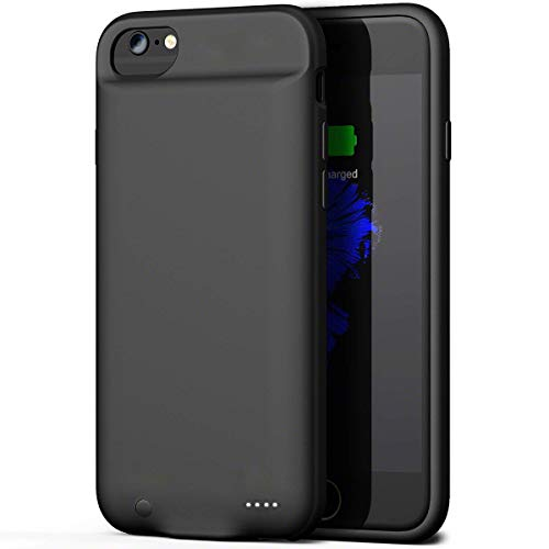 Battery Case for iPhone 6 / 6s, ZANYA 3000mAH Rechargeable Case Slim Protective Charger Charging Battery Case for iPhone 6 / 6s Black (4.7 inch)