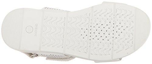 Geox D Koleos a, Sandalias con Cuña para Mujer Blanco (WHITEC1001)