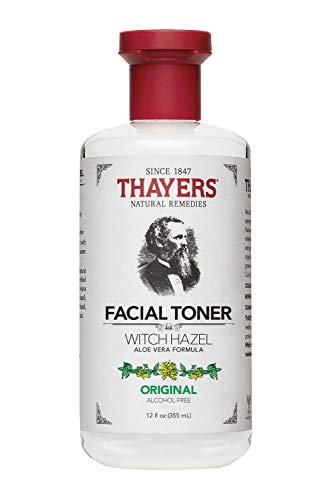 Thayers Witch Hazel Original Facial Toner - 12 Fluid Ounce Paraben Free, Alcohol Free, Organic Toner with Aloe Vera Formula. Beauty and Skin Care Essentials