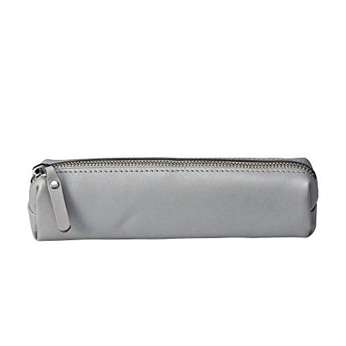 SLATE COLLECTION Fremont Pencil Pouch, Full-Grain Leather (Light Grey) ()