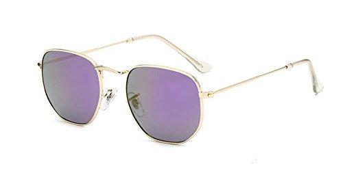 polarisées lunettes Pourpre soleil inspirées du Lennon rond cercle Mercure vintage de style métallique en retro pxHxR