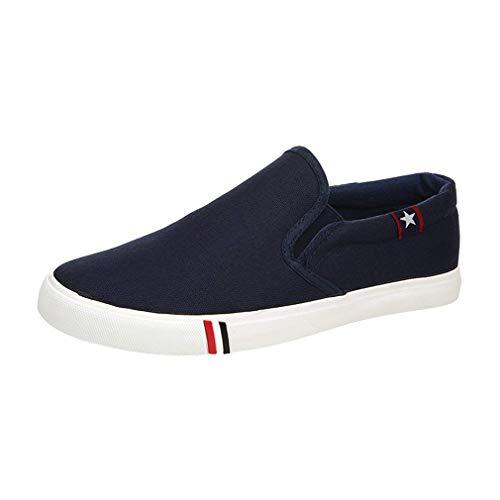 Confort Sports Toile Chaussures Junkai on Homme Baskets Mocassins Slip Hommes Femmes Enfiler Bleu Casual Pngnq7Z