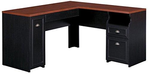 Fairview L Shaped Desk in Antique Black - Black Antique Furniture