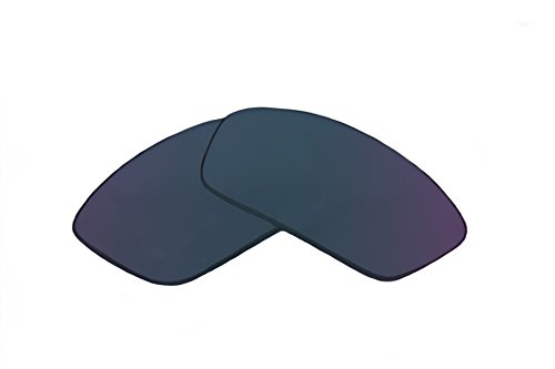 SFx Replacement Sunglass Lenses fits Adidas Evil Eye Pro S 127 64mm wide Please measure as there are several models (Ultimate Blue Mirror Black Pair-Polarized) (Evil Eye Pro)