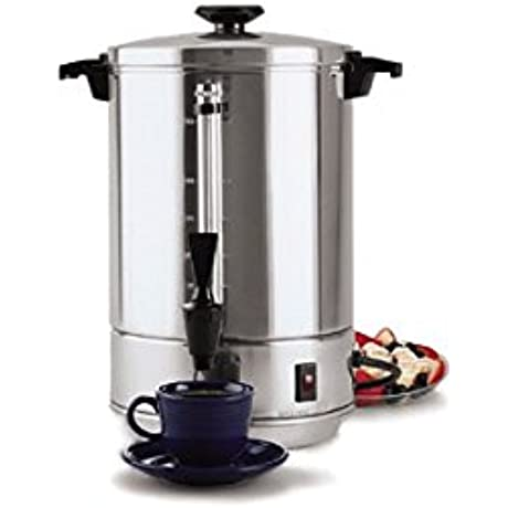 Focus Foodservice 58055R Regalware Commercial Aluminum Coffeemaker With Non Drip Spigot 55 Cup