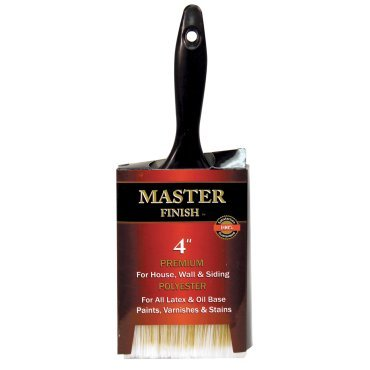 Master Finish 4 Premium Polyester Paint Brush for House Wall & Siding Latex & Oil Base ()