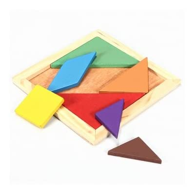 Rainbow Color Legno Tangram 7 Pezzi Puzzle Rompicapo Puzzle