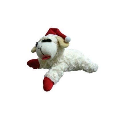 "Multipet Holiday Lambchop Toy 6"", Small"