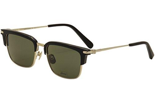 Sunglasses Brioni BR0007S BR 0007 7S S 7 001 BLACK / GREEN / - Sunglasses Brioni
