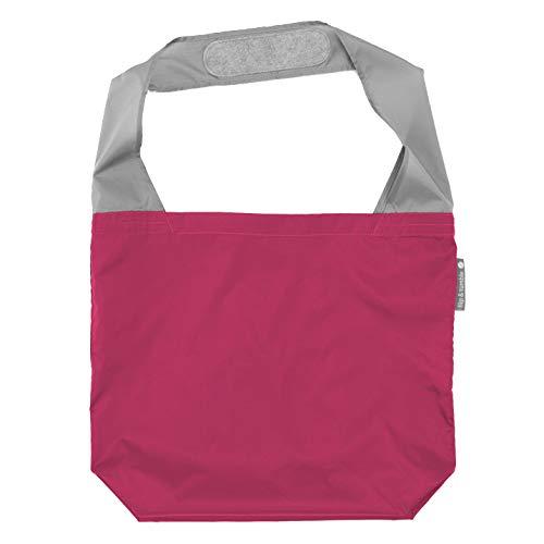 FLIP AND TUMBLE 24-7 Premium Reusable Grocery Bag - Perfect Shopping Bag, Beach Bag, Travel Bag (Berry)