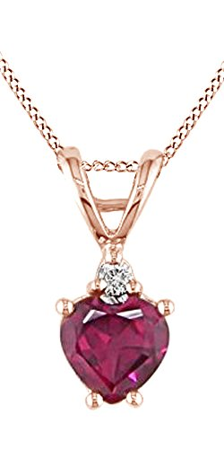 Heart-Shape-Red-Ruby-White-Natural-Diamond-Pendant-in-10K-Solid-Gold