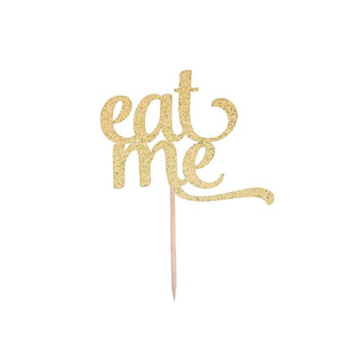 Eat Me Cupcake Pick- Any Color Glitter