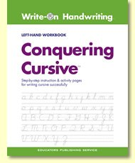 Write-on Handwriting Conquering Cursive Left-hand
