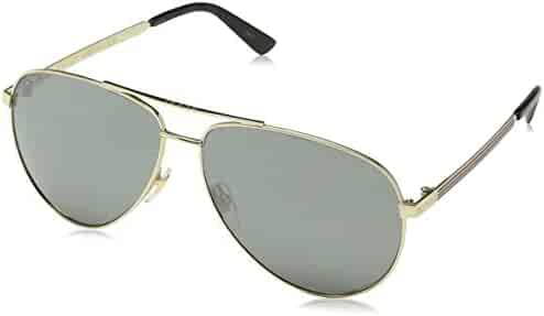Gucci Men,Women GG0137S 61 Gold/Grey Sunglasses 61mm