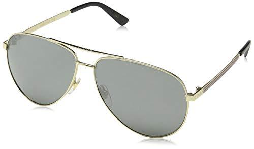 Gucci Men,Women GG0137S 61 Gold/Grey Sunglasses ()