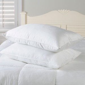 2 PAIRS FOUR PACK DELUXE SUPER BOUNCE BACK PILLOWS 4 BEDDING SET