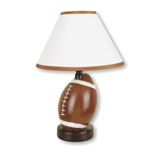 ORE International 604FT-N Ceramic Football Lamp, Brown