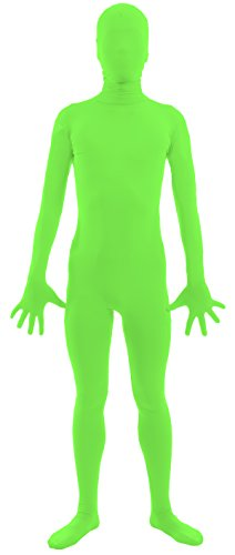 VSVO Adult Lime Green 2nd Skin Full Body Zentai Supersuit Costumes (Medium, Lime Green) (Sexy Holloween Costumes)