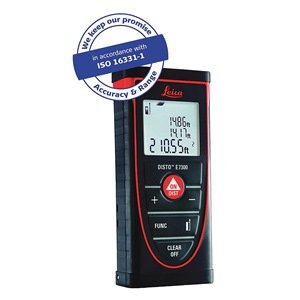 Laser Distance Meter, 1.6 In -265 ft, IP54