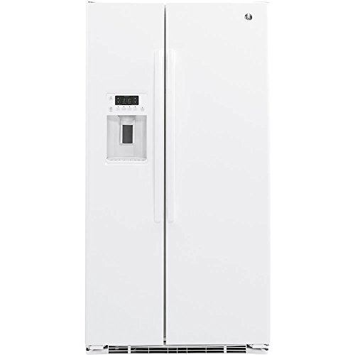 GE GZS22DGJWW 21.9 Cu. Ft. White Counter Depth Side-by-Side Refrigerator