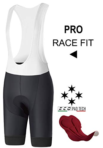 InPro Sports Mens Race Compression Cycling Bibs Shorts Padded