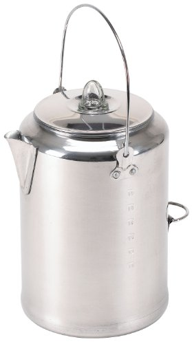 Stansport Aluminum 20 Cup Percolator Coffee Pot (Cookware Polished Aluminum)