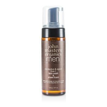 John Masters Organics Eucalipto e agave 2-in-1 lavaggio e schiuma da barba, crema da barba e Facial Cleanser, 177 ml C Faces Handelsges. oHG MSF