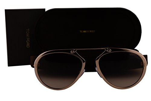 Tom Ford FT0508 Dashel Sunglasses Gold w/Brown Gradient Lens 28F TF508 by Tom Ford