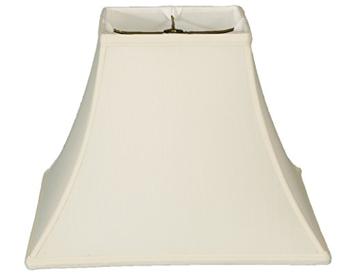 (Upgradelights Square Bell 6 Inch Clip On Chandelier Lampshade 3x6x6 (Egghsell))