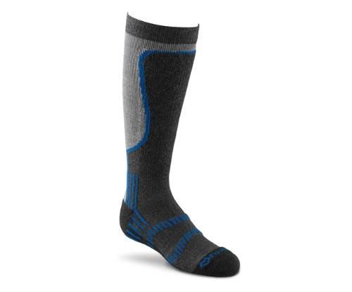 Fox River Kid's Snowride Lite Over The Calf Socks, Graphite, X-Small