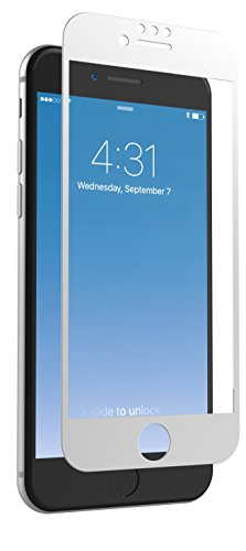 ZAGG InvisibleShield Glass + Luxe Screen Protector for iPhone 8, iPhone 7, iPhone 6s, iPhone 6 - Extreme Impact and Scratch Protection - Titanium
