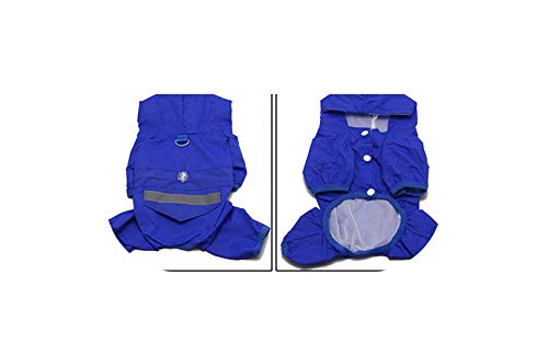 Pet Cat Dog Raincoat Hooded Small Waterproof Jacket for Dogs Soft Breathable Dog Clothes,Blue,M