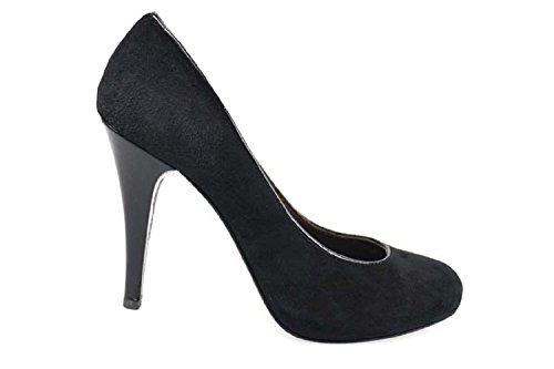 Chaussures Femme FRANCESCO MORICHETTI Escarpins Noir daim AP404