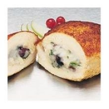 Barber Foods Creme Brie and Apple Solid Muscle Stuffed Chicken Entree, 8 Ounce -- 18 per case.