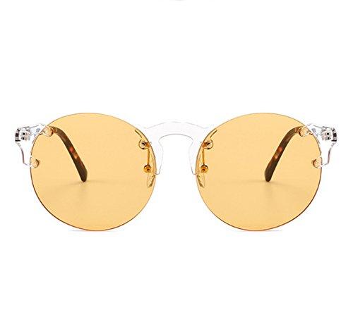 Hellomiko Steampunk marco sol vintage Marco Naranja retro estilo de sin gafas de metal YqRrwFY