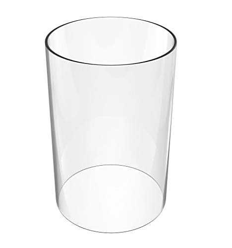 - Glasses Holder-Glass Cylinder Chimney Lampshade Height 14 inch Diameter 4 inch - Piece for COFFEE TABLES OR SIDE TABLES- Glass Chimney (Multiple Specifications)