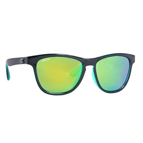 Calcutta CY1GM Cayman Sungalsses Shiny Black Frame Green ()