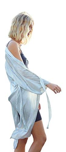 Nation LTD Francesca Bed Jacket for Women Silver Skies (Down Bed Jacket)