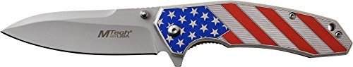MTech USA MT-A1024A Spring Assist Folding Knife, Satin Silve